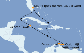 Itinéraire de la croisière Caraïbes de l'Est 10 jours à bord du Celebrity Silhouette