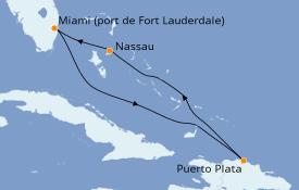 Itinéraire de la croisière Caraïbes de l'Est 6 jours à bord du Celebrity Apex