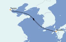 Itinéraire de la croisière Asie 5 jours à bord du Spectrum of the Seas