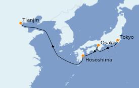 Itinéraire de la croisière Asie 8 jours à bord du Silver Muse