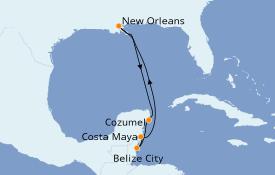 Itinéraire de la croisière Caraïbes de l'Ouest 8 jours à bord du Majesty of the Seas