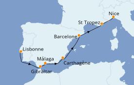 Itinéraire de la croisière Méditerranée 9 jours à bord du Club Med 2