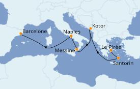 Itinéraire de la croisière Méditerranée 8 jours à bord du Discovery Princess