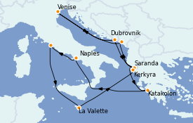 Itinerario de crucero Mediterráneo 15 días a bordo del ms Volendam