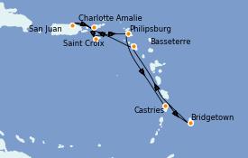 Itinéraire de la croisière Caraïbes de l'Est 8 jours à bord du Explorer of the Seas