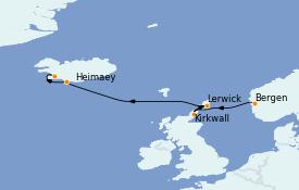 Itinéraire de la croisière Exploration polaire 9 jours à bord du Le Champlain