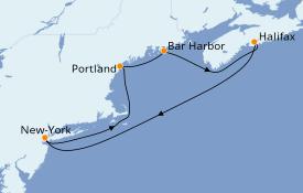 Itinéraire de la croisière Canada 8 jours à bord du Norwegian Breakaway