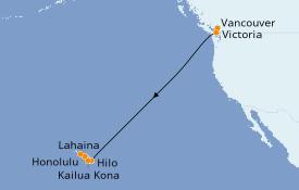Itinéraire de la croisière Hawaii 11 jours à bord du Celebrity Solstice