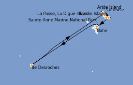 Itinéraire de la croisière Océan Indien 9 jours à bord du Le Jacques Cartier