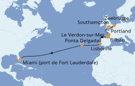 Itinéraire de la croisière Méditerranée 17 jours à bord du Crown Princess