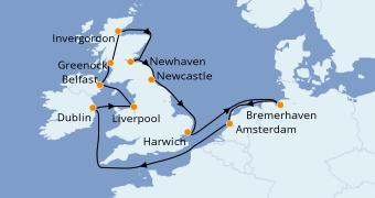 Itinéraire de la croisière Australie 2021 15 jours à bord du Costa Favolosa