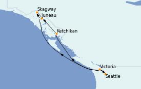 Itinerario de crucero Alaska 8 días a bordo del Norwegian Spirit
