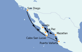 Itinerario de crucero Riviera Mexicana 11 días a bordo del ms Zuiderdam