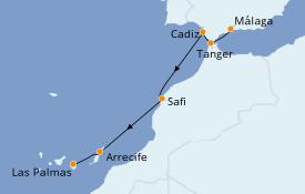 Itinéraire de la croisière Méditerranée 10 jours à bord du Star Flyer