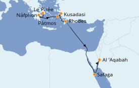 Itinéraire de la croisière Grèce & Adriatique 11 jours à bord du