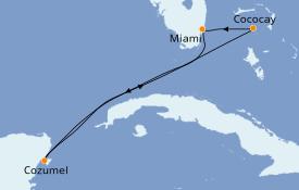 Itinéraire de la croisière Bahamas 6 jours à bord du Symphony of the Seas