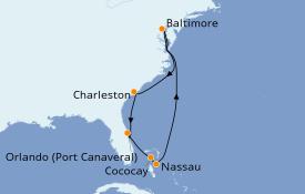 Itinéraire de la croisière Canada 9 jours à bord du Enchantment of the Seas