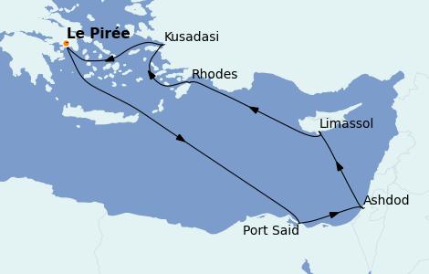 Itinéraire de la croisière Grèce & Adriatique 7 jours à bord du Celestyal Crystal