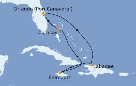Itinéraire de la croisière Bahamas 7 jours à bord du Allure of the Seas