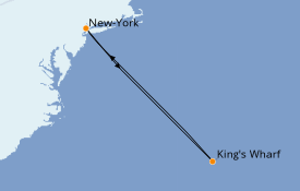 Itinéraire de la croisière Transatlantiques et Grands Voyages 2022 8 jours à bord du Norwegian Getaway