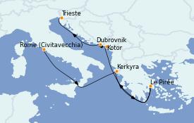 Itinéraire de la croisière Grèce & Adriatique 8 jours à bord du Costa Luminosa