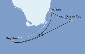 Itinéraire de la croisière Bahamas 4 jours à bord du MSC Armonia