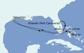 Itinerario de crucero Bahamas 10 días a bordo del Independence of the Seas