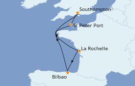 Itinéraire de la croisière Îles Britanniques 7 jours à bord du Regal Princess