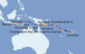 Itinéraire de la croisière Australie 2020 17 jours à bord du Paul Gauguin