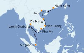 Itinéraire de la croisière Transatlantiques et Grands Voyages 2022 11 jours à bord du Norwegian Sun