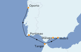 Itinéraire de la croisière Îles Canaries 6 jours à bord du Royal Clipper
