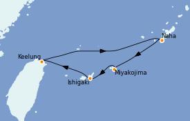 Itinéraire de la croisière Asie 5 jours à bord du