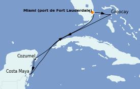 Itinéraire de la croisière Caraïbes de l'Ouest 7 jours à bord du Odyssey of the Seas