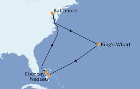 Itinéraire de la croisière Bahamas 10 jours à bord du Grandeur of the Seas