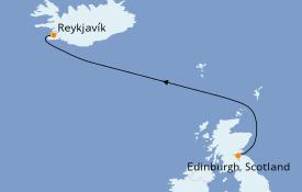 Itinéraire de la croisière Exploration polaire 4 jours à bord du Le Jacques Cartier