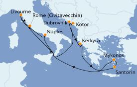 Itinéraire de la croisière Grèce & Adriatique 11 jours à bord du Norwegian Jade