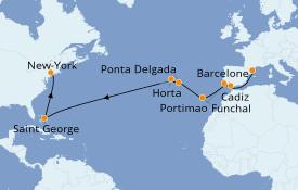Itinéraire de la croisière Îles Canaries 17 jours à bord du Seven Seas Navigator
