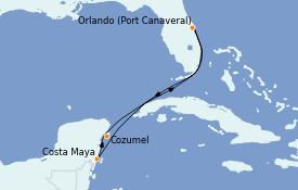 Itinéraire de la croisière Caraïbes de l'Est 6 jours à bord du Norwegian Prima