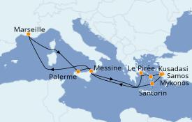 Itinéraire de la croisière Grèce & Adriatique 12 jours à bord du Jules Verne