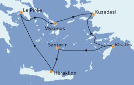 Itinéraire de la croisière Grèce & Adriatique 7 jours à bord du Azamara Pursuit
