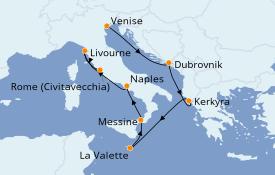Itinerario de crucero Mediterráneo 8 días a bordo del Norwegian Gem