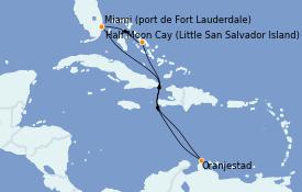 Itinéraire de la croisière Caraïbes de l'Est 8 jours à bord du ms Nieuw Statendam