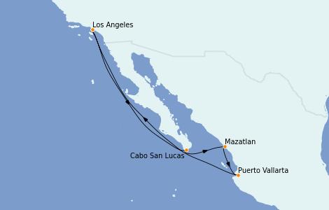 Itinéraire de la croisière Riviera Mexicaine 7 jours à bord du Navigator of the Seas
