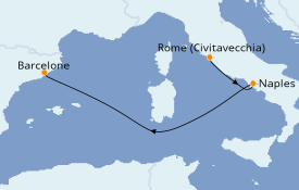 Itinéraire de la croisière Méditerranée 4 jours à bord du Harmony of the Seas