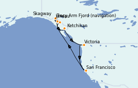 Itinerario de crucero Alaska 11 días a bordo del Ruby Princess
