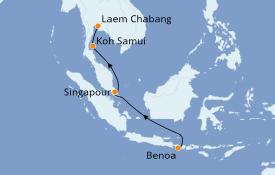 Itinéraire de la croisière Asie 8 jours à bord du Seven Seas Explorer