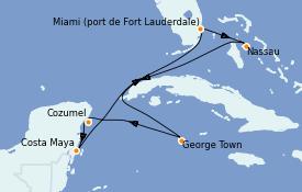 Itinéraire de la croisière Caraïbes de l'Ouest 8 jours à bord du Celebrity Equinox