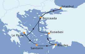 Itinéraire de la croisière Grèce & Adriatique 8 jours à bord du Seven Seas Splendor