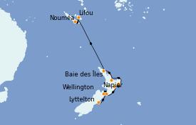 Itinéraire de la croisière Australie 2022 14 jours à bord du Le Lapérouse