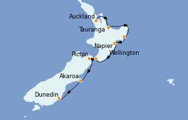 Itinerario de crucero Australia 2022 13 días a bordo del Le Soléal